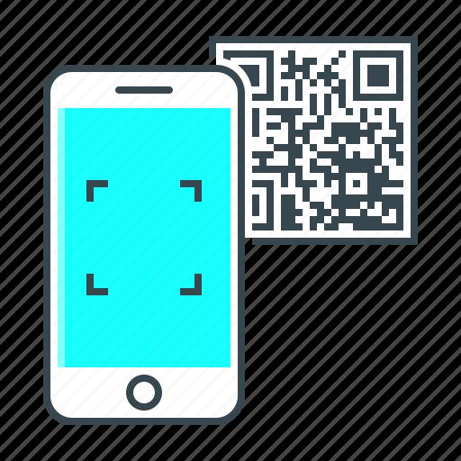 app, code, mobile, phone, qr, qr code, smartphone icon