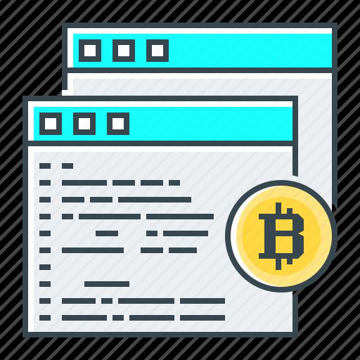 algorithm, bitcoin, code, coding, programming, scrypt, sha-256 icon