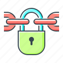 blockchain, chain, lock, locked, protection icon