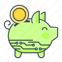 box, cryptocurrency, money, money box, piggy, piggy bank icon