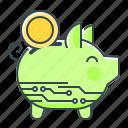 box, piggy bank, money, cryptocurrency, piggy, money box icon