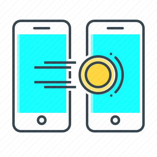 mobile, phone, remittance, smartphone, transaction, transfer icon