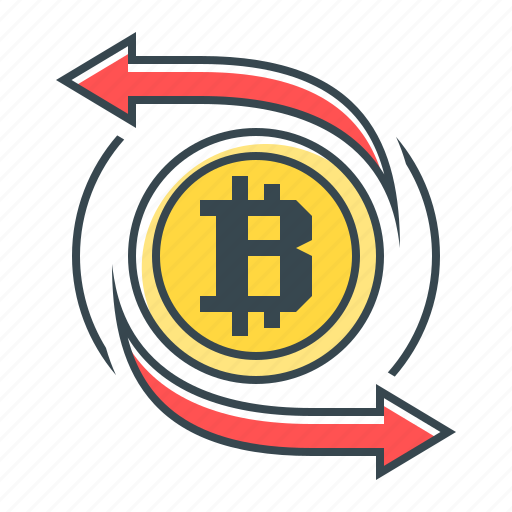 Cryptocurrency, transfer, bitcoin icon