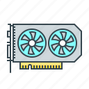 card, hardware, video, video card icon