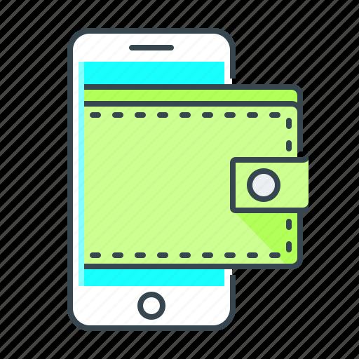 mobile, mobile wallet, online wallet, purse, wallet icon