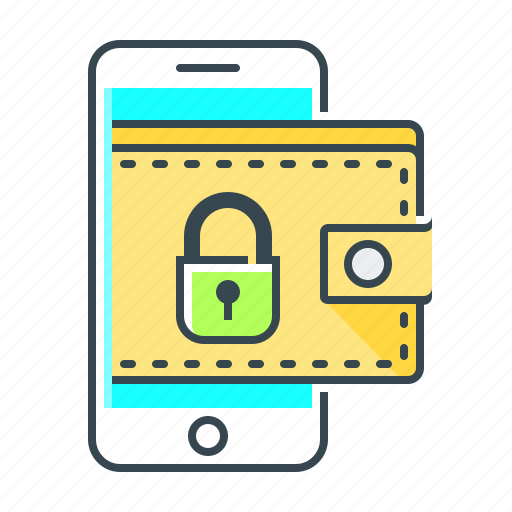Cryptocurrency, mobile wallet, purse, online wallet, wallet icon