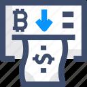 bitcoin, cash, conversion, withdraw cash