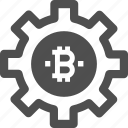 bitcoin, cryptocurrency, digital currency, settings icon