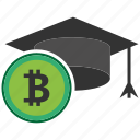 bitcoin, blockchain, calculator, cpu, education icon