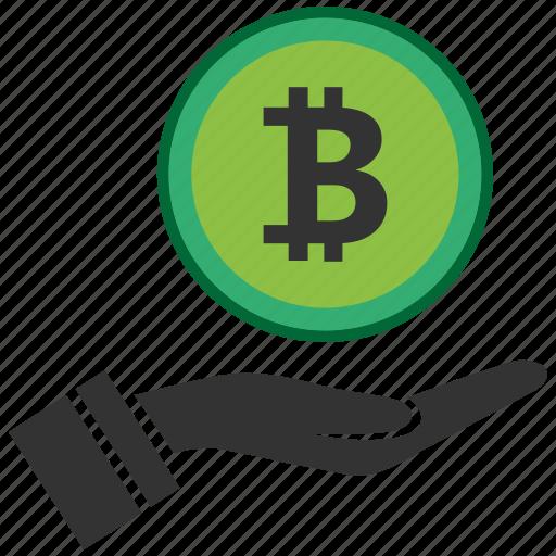 bitcoin, blockchain, calculator, cpu, hand icon