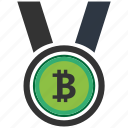 bitcoin, blockchain, calculator, cpu, medal icon