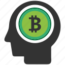 bitcoin, blockchain, calculator, cpu, mind icon