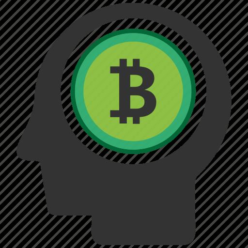 bitcoin, blockchain, calculator, cpu, mind icon