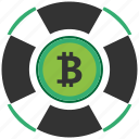 bitcoin, blockchain, calculator, cpu, support icon