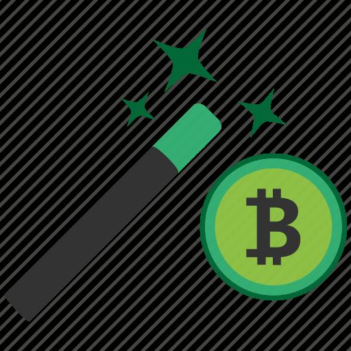bitcoin, blockchain, calculator, cpu, wizard icon