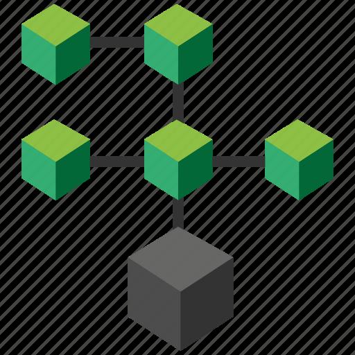bitcoin, blockchain, calculator, cpu icon
