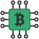 bitcoin, blockchain, calculator, cpu, mining icon