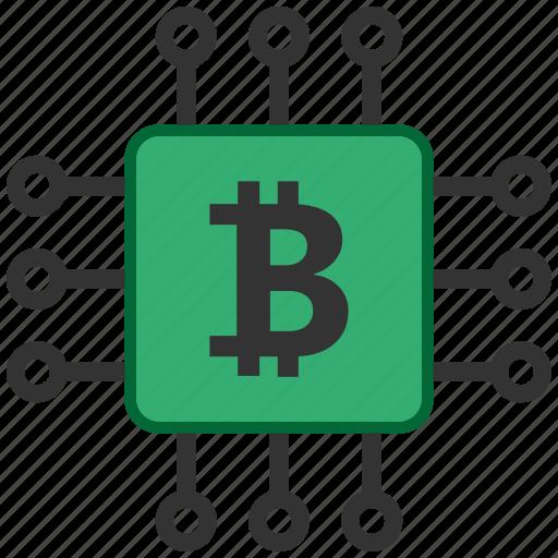 bitcoin, blockchain, calculator, cpu, mining icon