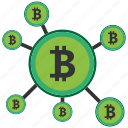 bitcoin, blockchain, calculator, cpu, crowd, funding icon