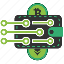 bitcoin, blockchain, calculator, cpu, crypto, currency, wallet icon