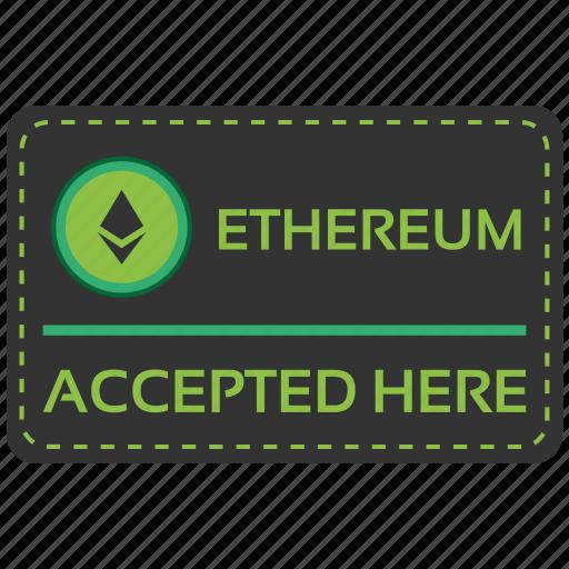 accepted, bitcoin, blockchain, calculator, cpu, ethereum, here icon