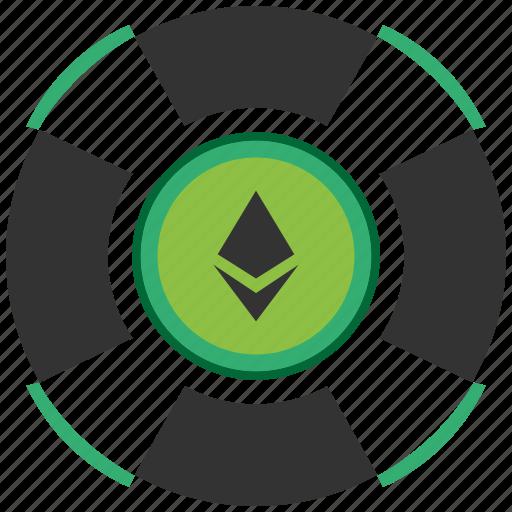 bitcoin, blockchain, calculator, cpu, ethereum, support icon