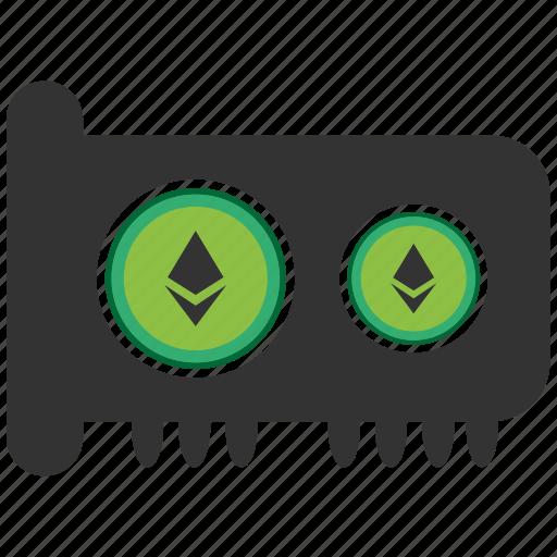 bitcoin, blockchain, calculator, cpu, ethereum, gpu icon
