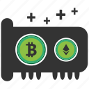 bitcoin, blockchain, calculator, cpu, gpu, mining icon