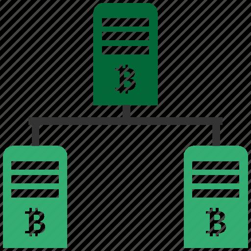 bitcoin, blockchain, calculator, cpu, pool icon