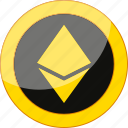 coin, crypto, cryptocurrency, currency, ethereum, mining, money icon