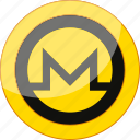 blockchain, coin, crypto, cryptocurrency, currency, mining, monero, money icon