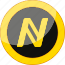 blockchain, coin, crypto, cryptocurrency, currency, mining, money, namecoin icon