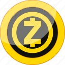 blockchain, coin, crypto, cryptocurrency, currency, mining, money, zcash icon