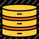 cryptocurrency, database, digital, internet icon