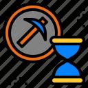 cryptocurrency, hash, mining, process, progress icon