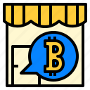 accept, bitcoin, cryptocurrency, shop icon