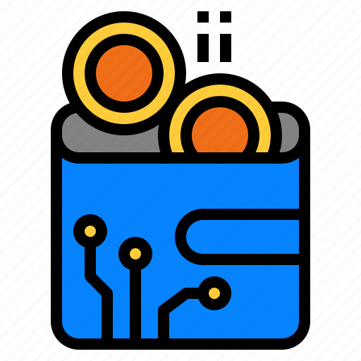 Bitcoin Cryptocurrency Digital Wallet Icon