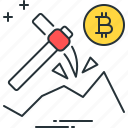 bitcoin, business, cryptocurrency, investment, mining, money, yield icon