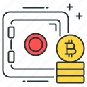 bitcoin, database, finance, money, secure, server, storage icon