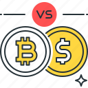 bank, bitcoin, business, currency, digital, dollar, exchange icon