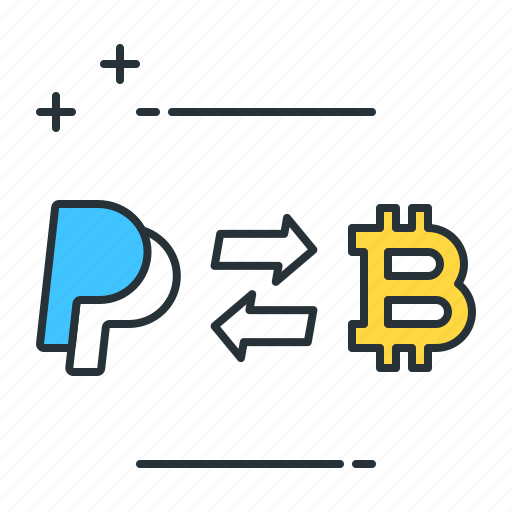 bitcoin, business, currency, exchange, payment, paypal, trading icon