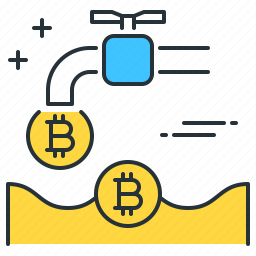 bitcoin, coin, currency, dollar, faucet, financial, tap icon