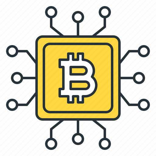 bitcoin, computer, cpu, cryptocurrency, microchip, mining, technology icon