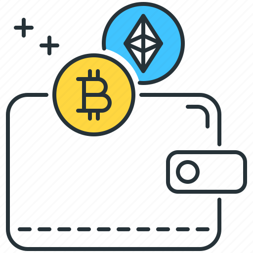 bitcoin, cryptocurrency, ethereum, payment, purse, storage, wallet icon