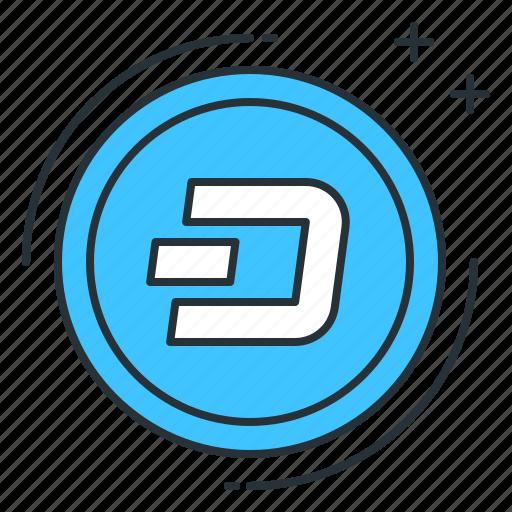 altcoin, blockchain, currency, dash, digital, money, trading icon