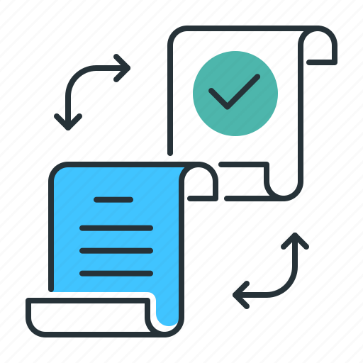 data, distributed, document, file, ledger, paper, share icon