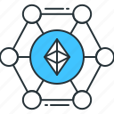 blockchain, business, cryptocurrency, digital, ethereum, technology icon