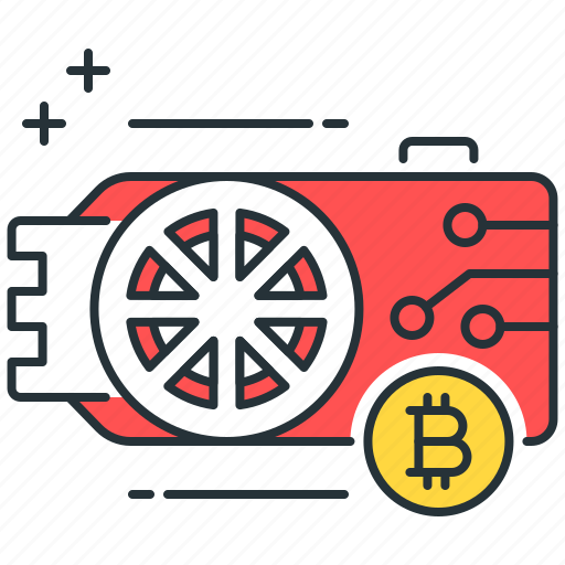 asset, bitcoin, coin, cryptocurrency, digital, gpu, mining icon