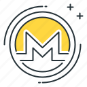 altcoin, business, cryptocurrency, finance, monero, payment icon