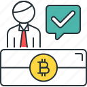 otc, trading, bitcoin, business, person, tick, user icon